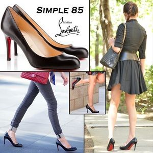 Christian Louboutin Simple 85 Black pump sz 38.5